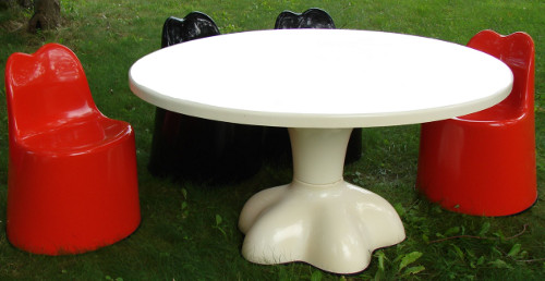 Rare Wendell Castle Molded Fiberglass Furniture