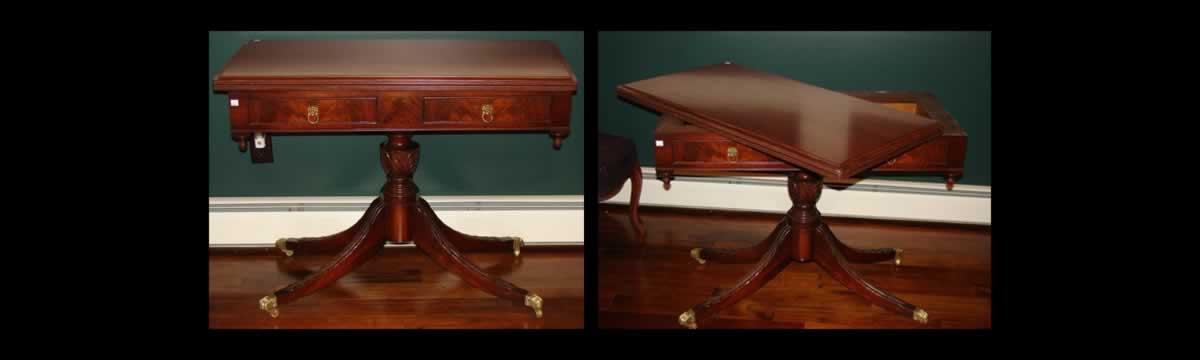 """Century"" Carved Mahogany Games Table"