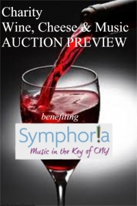 April 23, (Wednesday), 2014 - Charity Wine, Cheese, Music, Antiques & Fine Arts Cazenovia Auction Preview benefiting SYMPHORIA!   (Wine by OWERA Vineyards/ Cheese by 2-Kids Goat Farm/ Music by SYMPHORIA!)